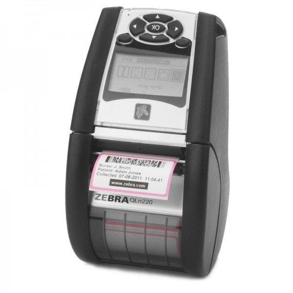 Zebra QLn 220 Mobiler Etikettendrucker LCD Display, Bluetooth
