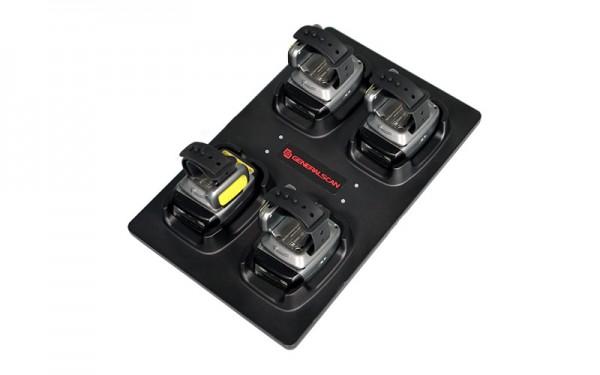 MC5000, 4-Fach Ladestation für R5000BT Ringscanner, inkl. Netzteil