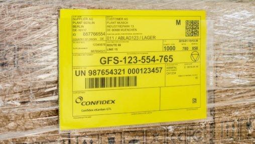 RFID Confidex Master Label 208 x 150mm gemäß VDA 4994