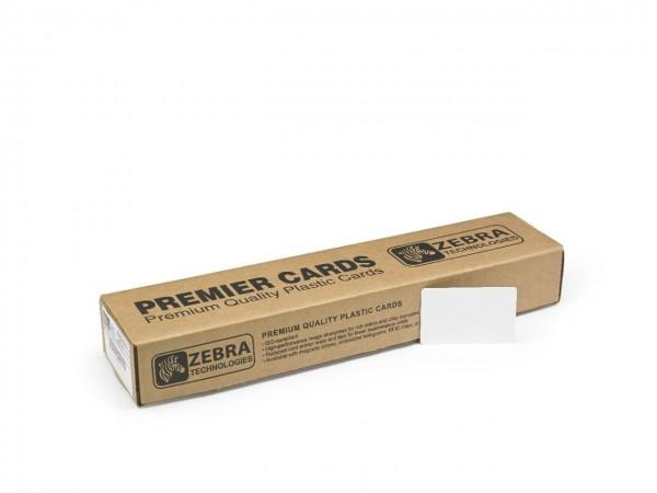 Zebra Premier Karte aus PVC, 30 mil, weiss, 500 Karten, 104523-111