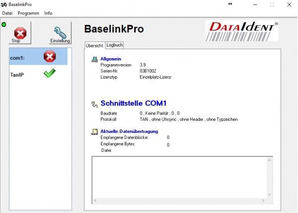 BaseLinkPro Datenempfangssoftware mit Macro-Steuerung